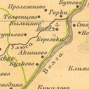 Карта Старицкого уезда 1891 год