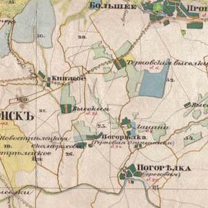 Топографическая карта 1850 года