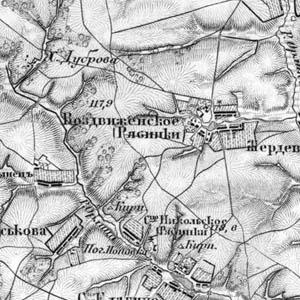 Военная топографическая карта 1865 года