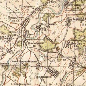 Карта Рабоче-крестьянской Красной армии 1941 - 1942 гг