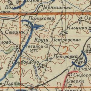 Карта Рабоче-крестьянской Красной армии 1935 - 1937 гг.