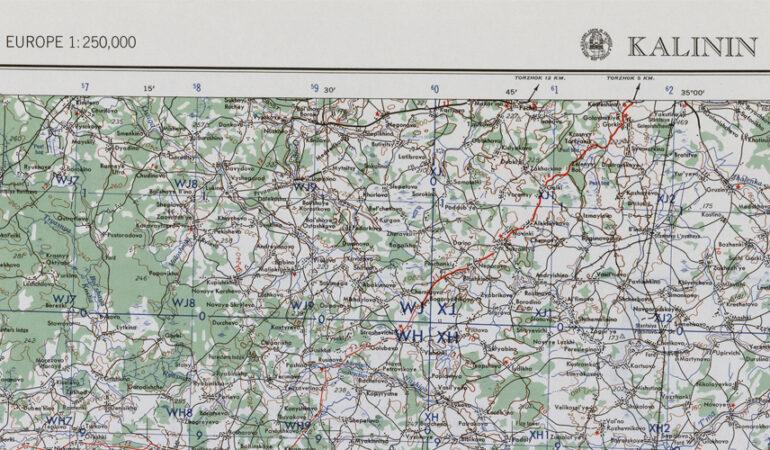Карта Центральной части России