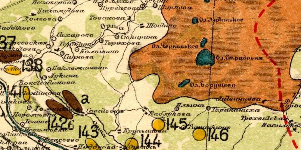 Карта Тверской губернии Стрельбицкого