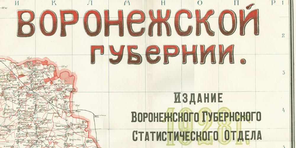 Подробная карта Воронежской губернии